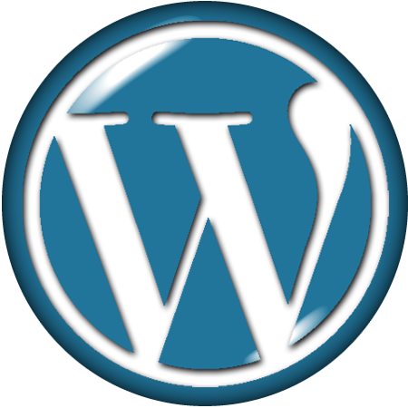WordPress logo 缶バッジ風